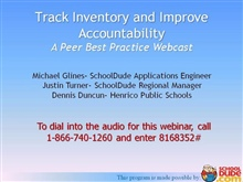 Track Inventory and Improve Accountability
