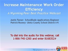 Increase Maintenance Work Order Efficiency