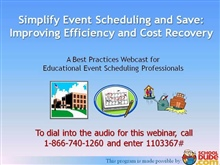 Save Time and Money with Efficient Event Scheduling and Cost Recovery