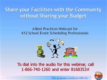 Share Your Facilities with the Community without Sharing Your Budget