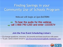 Find Savings in your Community Use of Schools Program