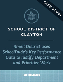 Small District uses SchoolDude's Key Performance Data to Justify Department and Prioritize Work